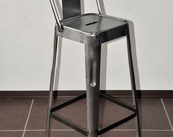Stool industrial vintage metal