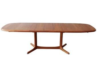 Dyrlund Danish Modern Teak Sculptural Extension Dining Table