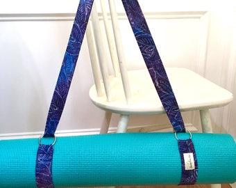 Yoga Mat Strap - Yoga Mat Carrier - Yoga Sling - Exercise Mat Carrier - Homemade Yoga Strap