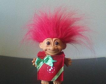 "Vintage Russ Troll Doll Christmas Present Gift Red Hair Trolls 5"""