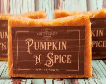 Pumpkin N Spice Soap, Fall scented soap, Pumpkin Soap, Exfoliating Soap, Moisturizing Soap, Pumpkin Spice, Christmas gift ideas