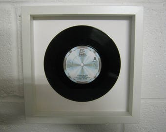 """Lionel Richie """"Stuck On You"""" Special Unique Wall Framed 7"""" Vinyl Record Gift/Present"""