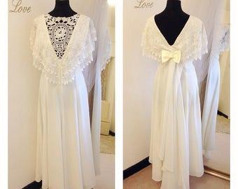 Tea Length Wedding Dress Boho 1920s Lace