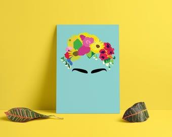 Frida Kahlo Head Piece Poster