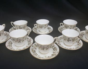 Royal Worcester Torquay Designed Demitasse Cups and Saucers Set of 8