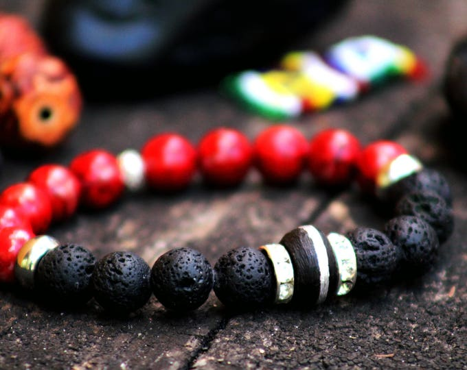 Yoga red & black bracelet