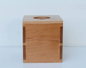 Dovetailed Wooden Tissue Box - Square shape