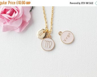 VACATION SALE Virgo Zodiac Sign Astrology Necklace, Virgo necklace, star sign necklace, star sign necklace, august and september birthday /