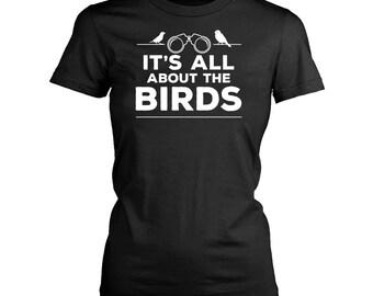 Bird watching womens fit T-Shirt. Funny Bird watching shirt.