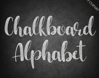 BUY 3 FOR 8 USD, Chalkboard alphabet clipart, digital chalk font clipart, digital alphabet, chalk clipart, upper case, lower case, download