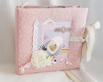Baby Girl Album // Baby Girl Scrapbook // Baby Scrapbook // Baby Album // Baby Gift // Girl Gift