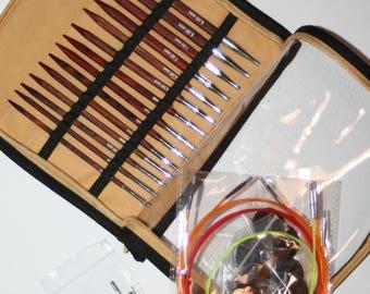 Knit Pro Cubics Symfonie Rose Deluxe Interchangeable Knitting Needle Deluxe Set 25613