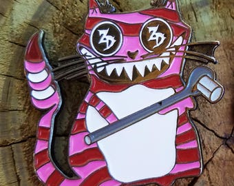 Zeds Dead Ratchet Kitty Hat Pin, Zeds Dead Pins, Cat Pins, EDM Pins, Festival Pins, Rave Pins, Bassnectar Pins