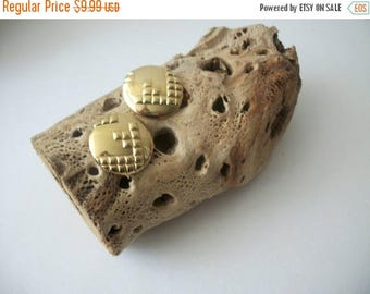 ON SALE Vintage MONET Bright Two Tone Gold Earrings 51117