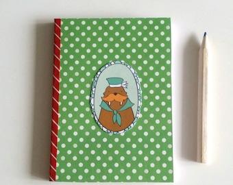 Decor morse, journal notebook handmade my little stationery creation