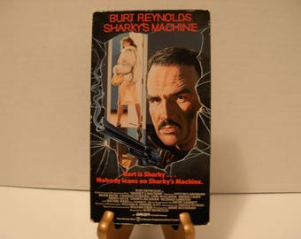 Sharky's Machine, VHS Tape, Burt Reynolds, Charles Durning, Color, Full Screen, Free Shipping
