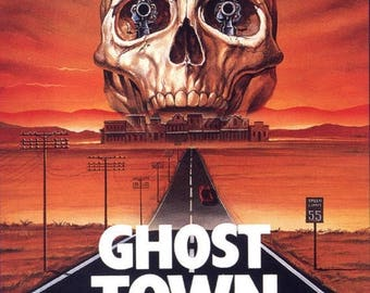 Back to School Sale: Ghost Town Movie POSTER (1988) Action/Horror