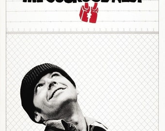 SPRING SALE: One Flew Over The Cuckoos Nest Movie Poster Jack Nicholson 1975