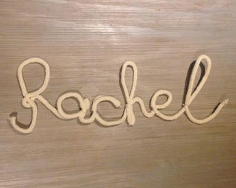 French knitting Rachel > customize by color, name or Word of your choice