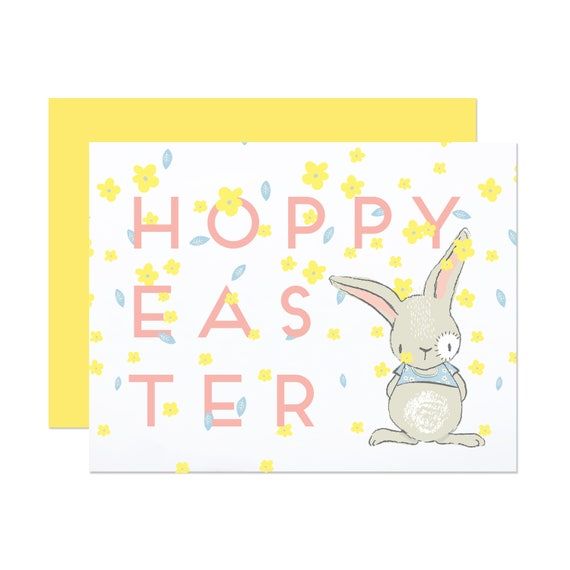 Hoppy Easter - Floral Easter Card