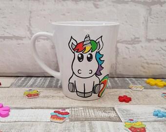 Unicorn Mug - Hand painted Unicorn Mug