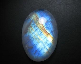 Rainbow Moonstone Cabochon, Natural Rainbow Moonstone Gemstone Oval shape size 22 x 32 mm , Rainbow  Flashy, Moonstone ET 4032