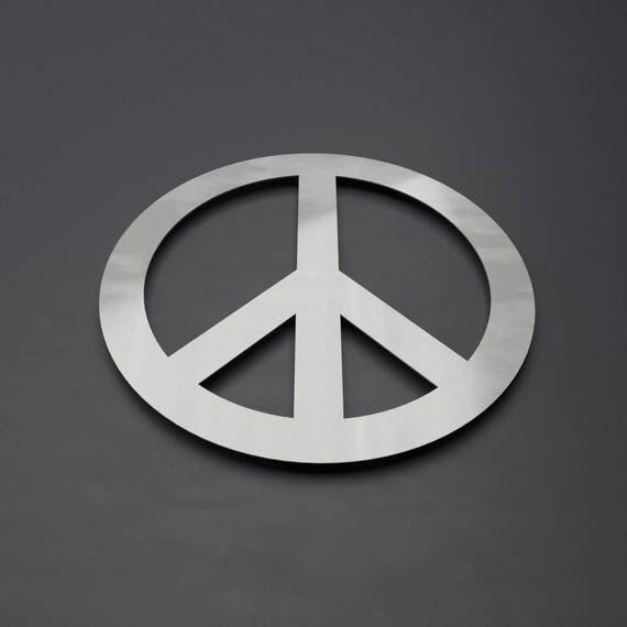 Peace Symbol Metal Wall Art Circle Wall Art Peace Sign Wall
