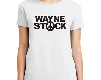 Wayne Stock logo T-shirt Wayne's World movie Halloween costume Shirts Men Women Kids sizes