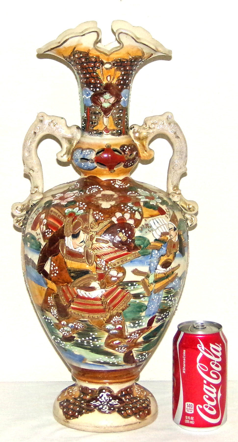 Large antique japanese satsuma samurai warrior urn vase c1910 large antique japanese satsuma samurai warrior urn vase c1910 meiji period urn vase vintage reviewsmspy