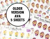 Planner Sticker Grab Bag - Ava Sticker Grab Bag - Planner Stickers - Fits Most Planners - Mystery Planner Stickers - Grab Bag