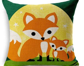 Fox Pillow, Animal Pillow, Pillow Case, Fox, Critter Pillow, Woodland, Foxes
