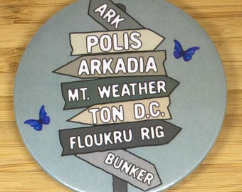 The 100  inspired location badge (59mm)