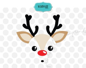 Reindeer svg, christmas svg, rudolph svg, rudolf svg, deer svg, svg files for cricut, reindeer cricut, svg cut files   cr34-3