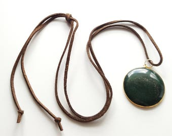 Vintage Pendant on Suede Cord (Gold)