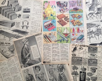 """20 pages from """"London Paris"""" Catalog Book (Uruguay 1962-1963)"""