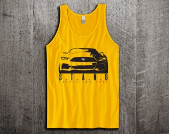 Ford Mustang Tank Top, Ford t shirts, Mustang shirts, cars tanks, Muscle car t shirts, Ford Mustang GT Unisex Tank top by Motomotiveink