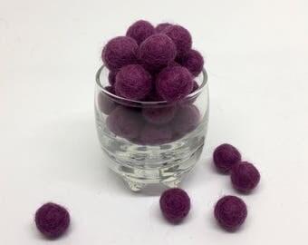 Hydrangea 100% Wool Felt Balls - 1cm