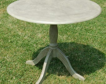 Rustic French Country Style Shabby Chic Pedestal Dining Table Seats 4