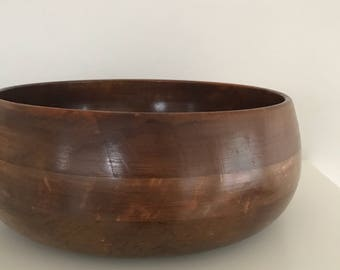 Vintage wood bowl, wooden bowl, wood bowl, wood salad bowls, wooden bowls, key bowl, table accents
