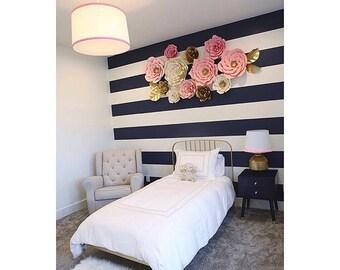 13 pc Paper Flowers, Nursery, Nursery Room, Nursery Decor, Customize your colors!
