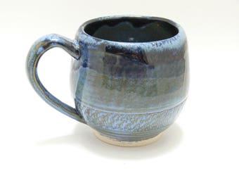 Blue Ceramic mug - coffee mug - tea mug - pottery mug - SierraAvisPottery