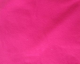 A small piece of fabric color polaireraz pink