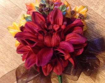 Fall treasures corsage