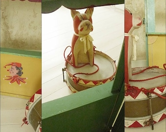 Antique puppet theatre, Punch and Judy theatre, circa 1920...CHARMANT