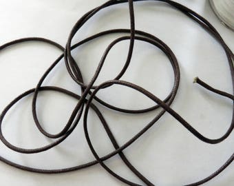 Dark brown waxed cord