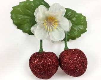 Sparkling Cherries Jubilee hairclip brooch SS17CFCJ