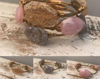 Gold Wirewrapped Bangle
