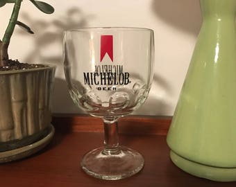 Vintage 1960's Michelob Beer Drinking Glass