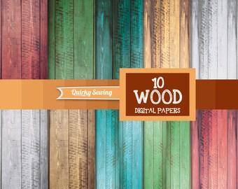 Wood Digital Paper, Wood Texture Paper Pack, Rustic Wood Digital Paper, Vintage Wood Textures, Wood Backdrop, Rustic Wood Background