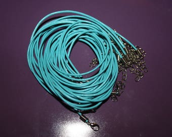 OIL END TURQUOISE COTTON CORD WITH LOBSTER CLASP